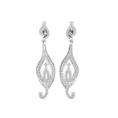 Cass Long Diamond Earrings